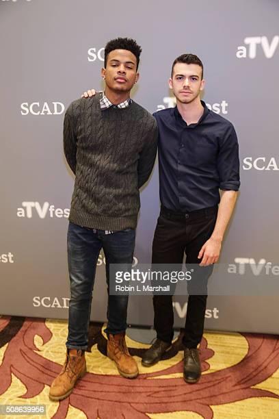 Trevor Jackson and Joey Pollari attend 4th Annual aTVfest on February 5 2016 in Atlanta Georgia