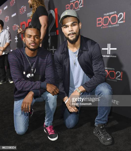 Trevor Jackson arrives at the premiere of Lionsgate's 'Tyler Perry's Boo 2 A Madea Halloween' at Regal LA Live Stadium 14 on October 16 2017 in Los...