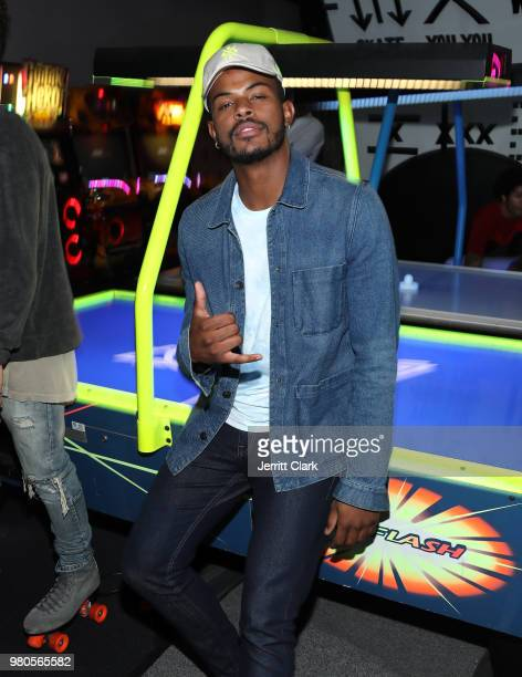 Trevor Jackson attends CAA's BET Awards Week KickOff Party in Partnership with Heineken at World of Wheels on June 20 2018 in Los Angeles California