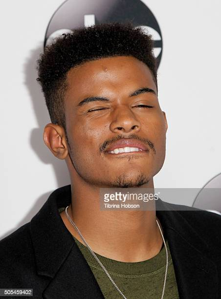 Trevor Jackson attends the Disney/ABC 2016 Winter TCA Tour at Langham Hotel on January 9, 2016 in Pasadena, California.