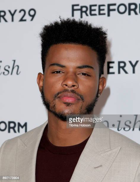 Trevor Jackson attends the premiere of ABC's 'Grownish' on December 13 2017 in Hollywood California