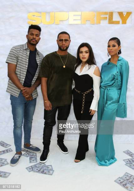 Trevor Jackson Director X Andrea Londo and Lex Scott Davis attend the special screening of Sony Pictures Entertainment 'Superfly' at Sony Pictures...