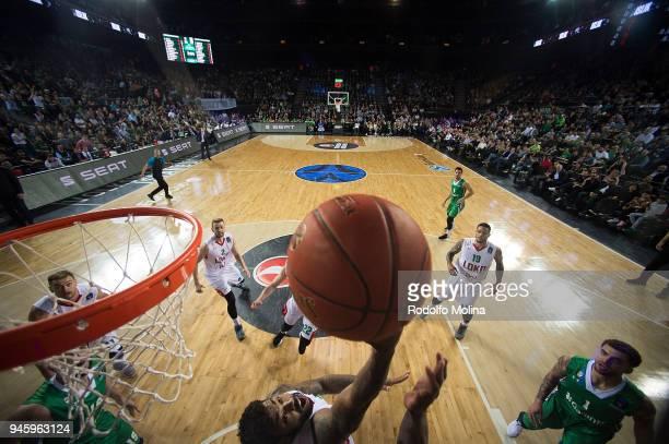 Trevor Lacey #7 of Lokomotiv Kuban Krasnodar in action during the 7DAYS EuroCup Basketball Finals game two between Darussafaka Istanbul v Lokomotiv...