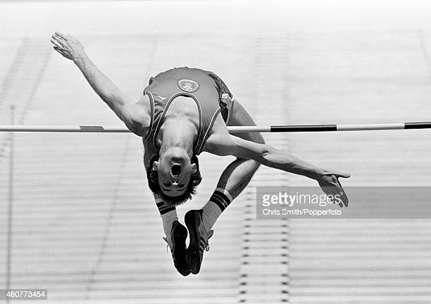 Trevor Llewelyn of Wales participating in the men's high jump event during the Commonwealth Games in Brisbane on 7th October 1982