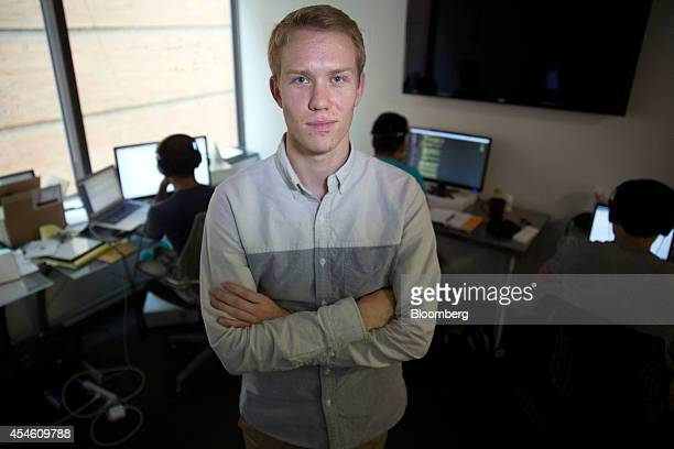 Trevor Lynn chief marketing officer at Social Tables Inc stands for a photograph in the engineering room at the company's headquarters in Washington...