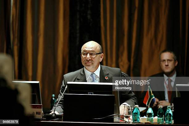 Trevor Manuel, South Africa's minister of finance, attends the G-20 meeting of central bankers and finance ministers in Kleinmond, South Africa, on...