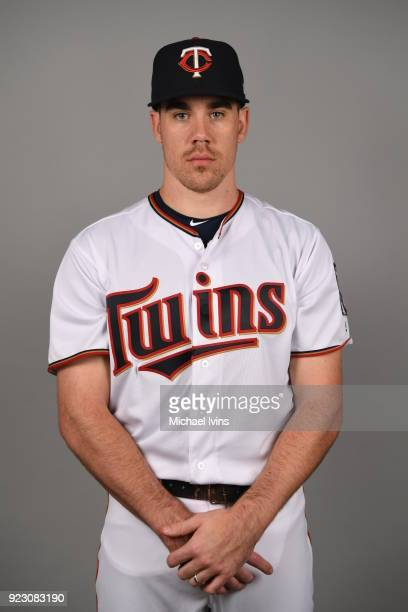 Trevor May of the Minnesota Twins poses during Photo Day on Wednesday February 21 2018 at CenturyLink Sports Complex in Fort Myers Florida