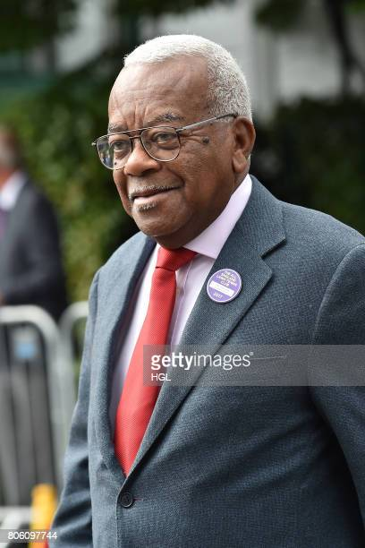 Trevor McDonald seen arriving at Day One of Wimbledon 2017 on July 3 2017 in London England