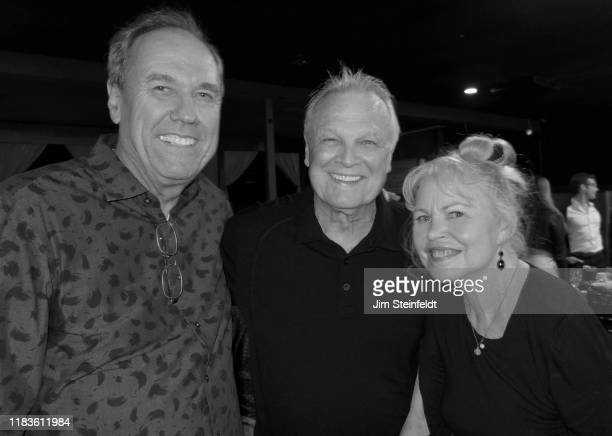 Trevor McShane with Tommy Roe and Michelle Phillips at Vitello's in Studio City California on October 20 2019