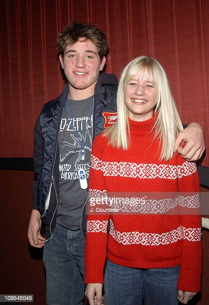 """Trevor Morgan and Carly Schroeder during 2004 Sundance Film Festival - """"Mean Creek"""" Premiere at HVC II in Park City, Utah, United States."""