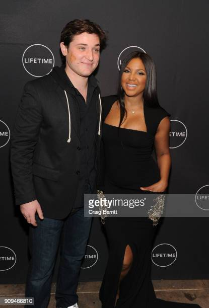 """Trevor Morgan and Toni Braxton attend Lifetime""""s Film,""""Faith Under Fire: The Antoinette Tuff Story"""" red carpet screening and premiere event at..."""