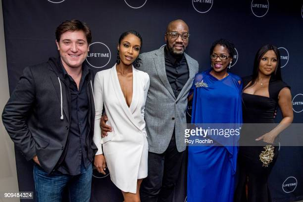 "Trevor Morgan, Yaya DaCosta, Malik Yoba, Antoinette Tuff and Toni Braxton attend ""Faith Under Fire: The Antoinette Tuff Story"" Screening at NeueHouse..."
