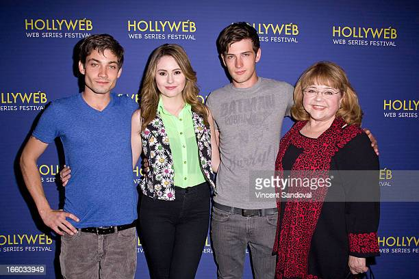Trevor Nelson Jillian Clare Michael Bolten and Patrika Darbo attend the 2nd annual HollyWeb Festival at Avalon on April 7 2013 in Hollywood California