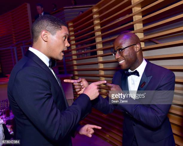 Trevor Noah and Barry Jenkins attend the 2017 TIME 100 Gala at Jazz at Lincoln Center on April 25 2017 in New York City