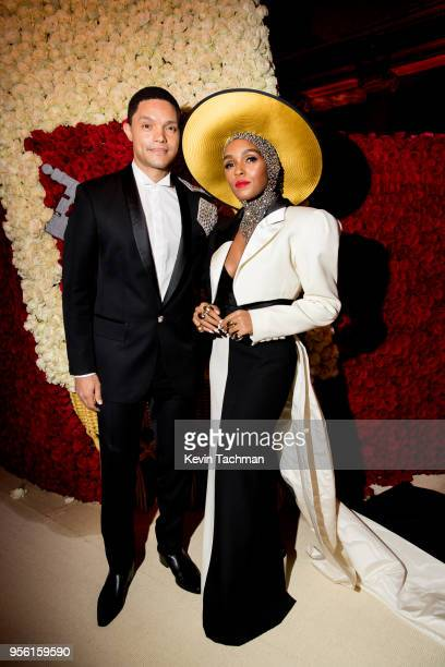 Trevor Noah and Janelle Monáe attend the Heavenly Bodies Fashion The Catholic Imagination Costume Institute Gala at The Metropolitan Museum of Art on...