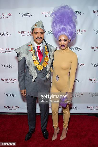 Trevor Noah and Jordyn Taylor attend Heidi Klum's 17th Annual Halloween party at Vandal on October 31 2016 in New York City