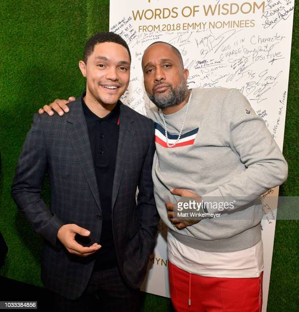 Trevor Noah and Kenya Barris attend The Hollywood Reporter SAGAFTRA 2nd annual Emmy Nominees Night presented by Douglas Elliman and Heineken at Avra...