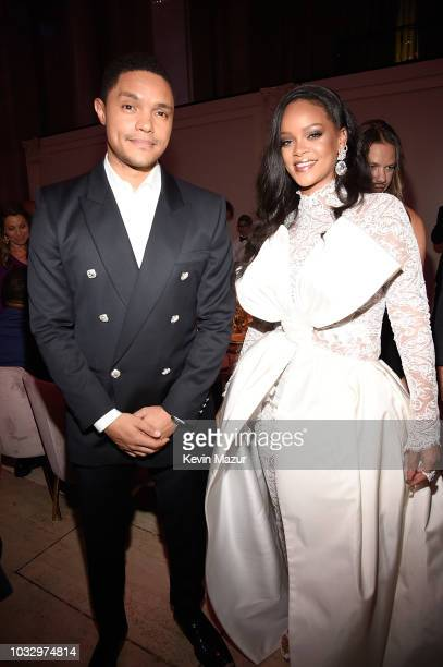 Trevor Noah and Rihanna attend Rihanna's 4th Annual Diamond Ball benefitting The Clara Lionel Foundation at Cipriani Wall Street on September 13 2018...