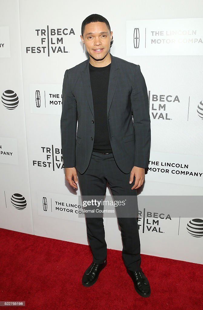 Trevor Noah attends 'A Hologram For The King' World Premiere at the John Zuccotti Theater at BMCC Tribeca Performing Arts Center on April 20, 2016 in New York City.