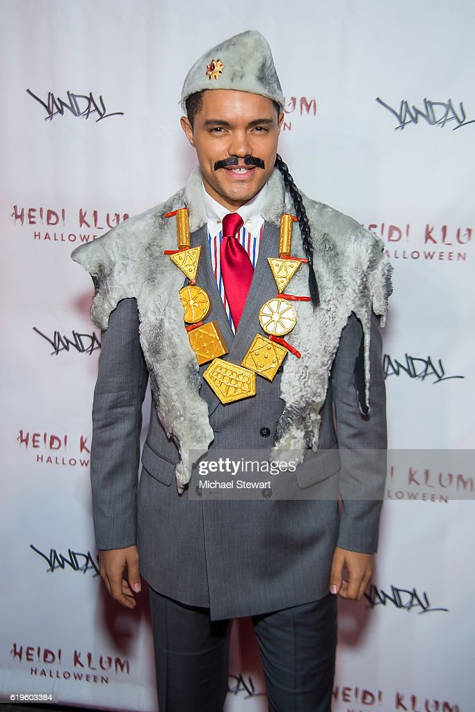 Trevor Noah attends Heidi Klum's 17th Annual Halloween party at Vandal on October 31, 2016 in New York City.