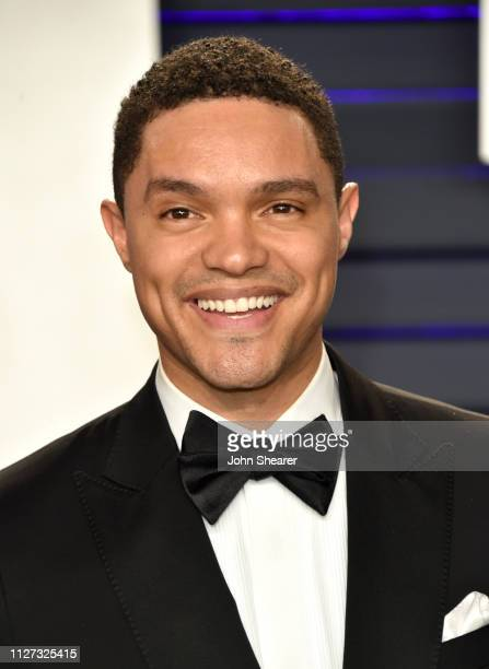 Trevor Noah attends the 2019 Vanity Fair Oscar Party hosted by Radhika Jones at Wallis Annenberg Center for the Performing Arts on February 24 2019...