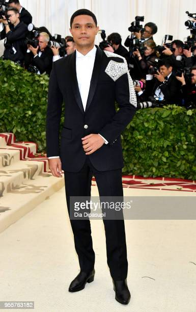 Trevor Noah attends the Heavenly Bodies Fashion The Catholic Imagination Costume Institute Gala at The Metropolitan Museum of Art on May 7 2018 in...