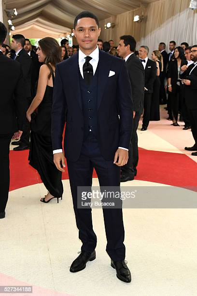 Trevor Noah attends the 'Manus x Machina Fashion In An Age Of Technology' Costume Institute Gala at Metropolitan Museum of Art on May 2 2016 in New...