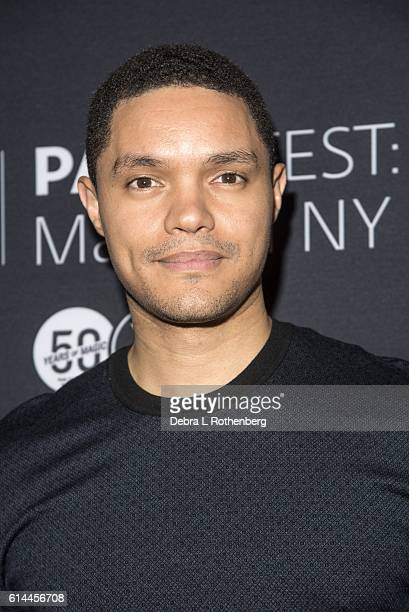 Trevor Noah attends the PaleyFest New York 2016'The Daily Show With Trevor Noah' at The Paley Center for Media on October 13 2016 in New York City