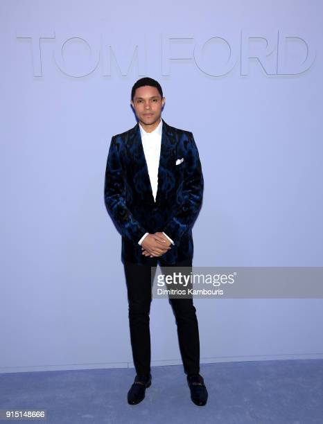 Trevor Noah attends the Tom Ford Fall/Winter 2018 Men's Runway Show at the Park Avenue Armory on February 6 2018 in New York City