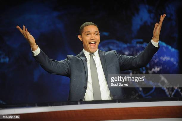 Trevor Noah hosts Comedy Central's 'The Daily Show with Trevor Noah' premiere on September 28 2015 in New York City