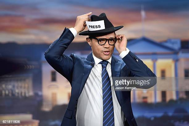 "Trevor Noah hosts 'The Daily Show with Trevor Noah' LIVE onehour ""Democalypse 2016"" Election Night special on November 8 2016 in New York City"