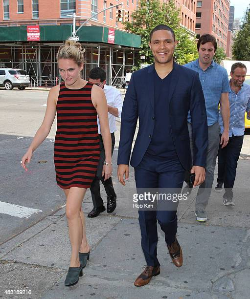 Trevor Noah is seen arriving at 'The Daily Show with Jon Stewart' #JonVoyage on August 6 2015 in New York City