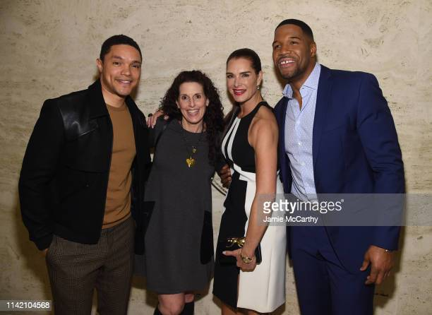 Trevor Noah Jill Fritzo Brooke Shields and Michael Strahan attend The Hollywood Reporter's 9th Annual Most Powerful People In Mediaat The Pool on...