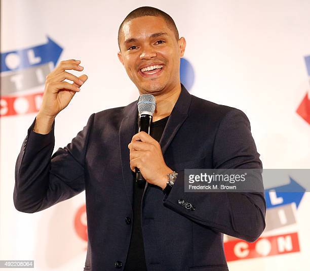 Trevor Noah performs during Politicon at the Los Angeles Convention Center on October 10, 2015 in Los Angeles, California.