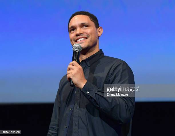 Trevor Noah performs onstage at the Barbara Berlanti Heroes Gala Benefitting FCancer at Warner Bros Studios on October 13 2018 in Burbank California