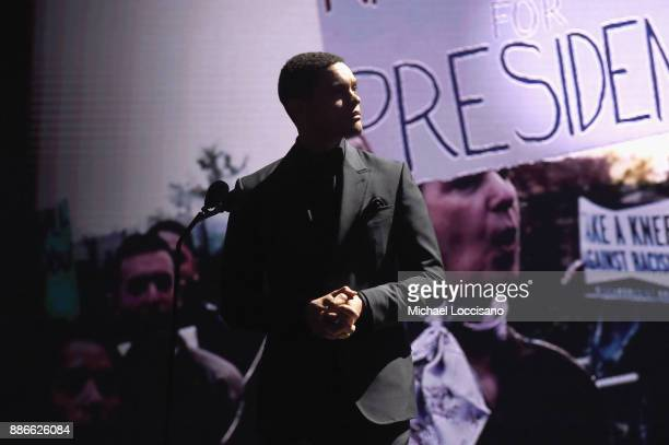 Trevor Noah presents the SI Muhammad Ali Legacy Award during SPORTS ILLUSTRATED 2017 Sportsperson of the Year Show on December 5 2017 at Barclays...