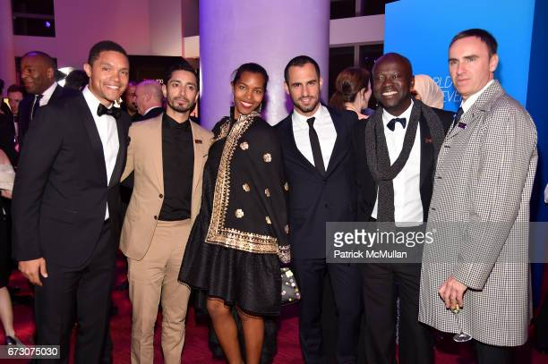 Trevor Noah Riz Ahmed Ashley ShawScott JeanGeorges d'Orazio David Adjaye and Raf Simons attend the 2017 TIME 100 Gala at Jazz at Lincoln Center on...