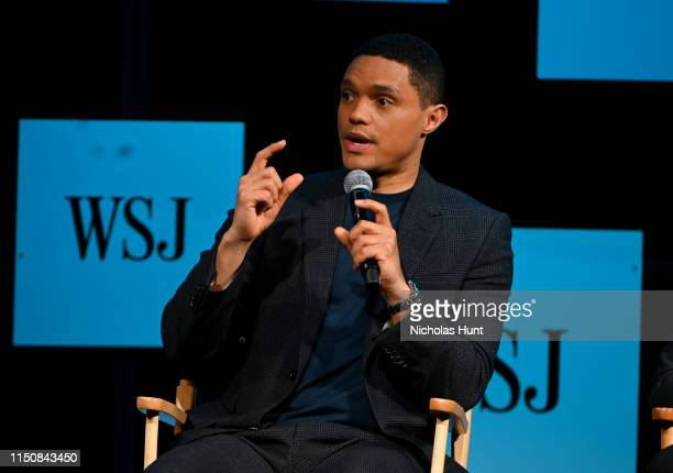 Trevor Noah speaks on stage during The Wall Street Journal's Future Of Everything Festival at Spring Studios on May 20 2019 in New York City
