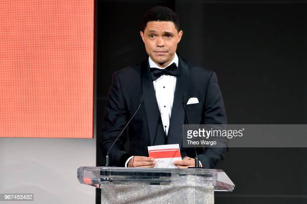 Trevor Noah speaks onstage during the 2018 CFDA Fashion Awards at Brooklyn Museum on June 4 2018 in New York City