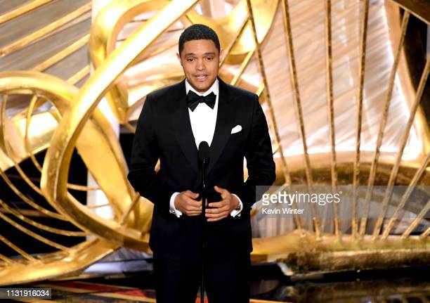Trevor Noah speaks onstage during the 91st Annual Academy Awards at Dolby Theatre on February 24 2019 in Hollywood California
