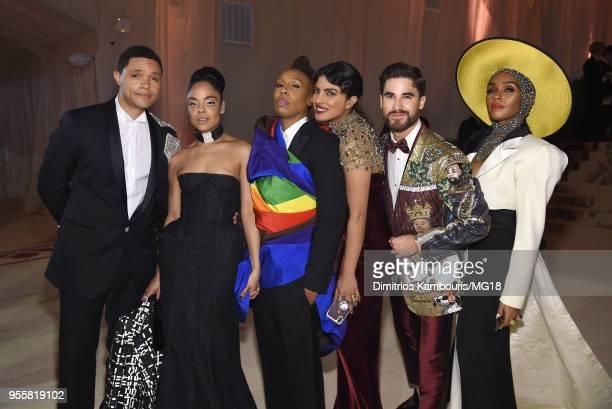 Trevor Noah Tessa Thompson Lena Waithe Priyanka Chopra Darren Criss and Janelle Monae attend the Heavenly Bodies Fashion The Catholic Imagination...