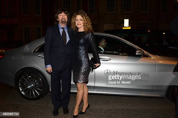 Trevor Nunn and guest arrive at Harper's Bazaar Women Of The Year Awards at Claridge's Hotel on November 3 2015 in London England