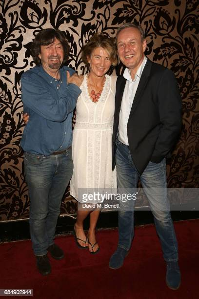 Trevor Nunn Eve Best and Antony Head attend the party following the press night performance of 'Love In Idleness' at The Apollo Theatre on May 18...
