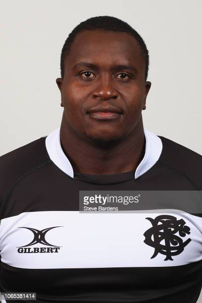 Trevor Nyakane of the Barbarians poses for a portrait during the Barbarians Squad Photocall at Hilton Park Lane on November 26 2018 in London England...