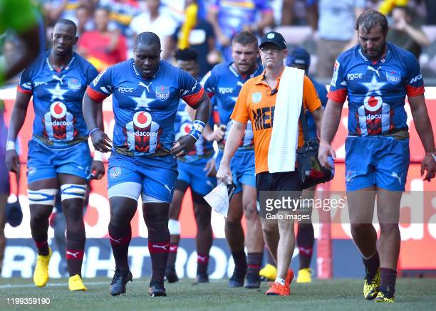 Trevor Nyakane of the Bulls dejected during the Super Rugby match between DHL Stormers and Vodacom Bulls at DHL Newlands on February 08 2020 in Cape...