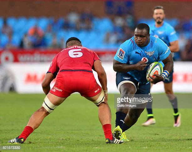Trevor Nyakane of the Bulls in action during the Super Rugby match between Vodacom Bulls and Reds at Loftus Versfeld on April 16 2016 in Pretoria...
