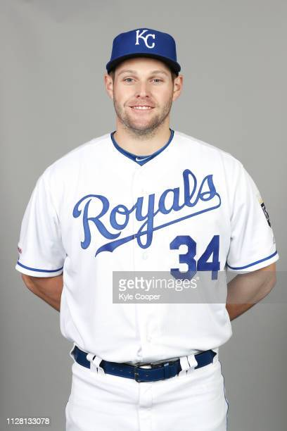 Trevor Oaks of the Kansas City Royals poses during Photo Day on Thursday February 21 2019 at Surprise Stadium in Surprise Arizona