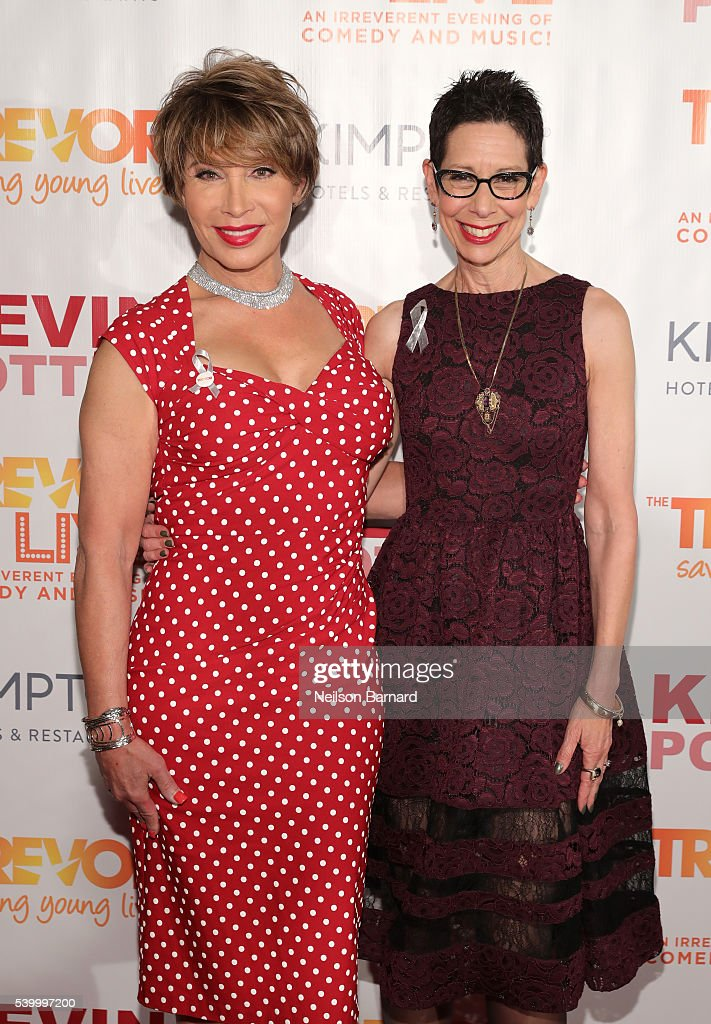 Trevor Project board member Michaela Mendelsohn and Trevor Project executive director and CEO Abbe Land attend The Trevor Project's TrevorLIVE New York on June 13, 2016 in New York City.