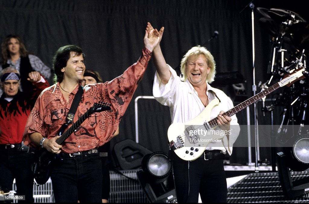 Trevor Rabin and Chris Squire of Yes perform at Shoreline ...