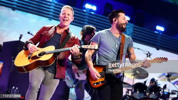 Trevor Rosen and Matthew Ramsey of Old Dominion perform onstage during the 2019 iHeartCountry Festival Presented by Capital One at the Frank Erwin...